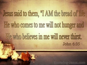 John 6:35 I Am The Bread Of Life (brown)