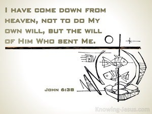 John 6:38 I Have Come Down From Heaven (beige)