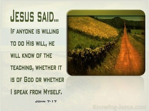 John 7:17 Knowing The Will of God (green)