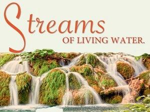 John 7:38  Streams Of Living Water Deep Within (orange)