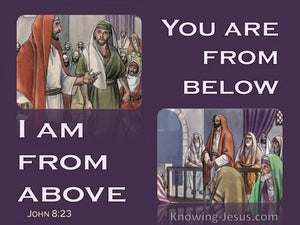 John 8:23 You Are From Below I Am From Above (purple)