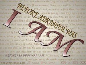 John 8:58 Before Abraham Was I Am (brown)