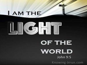 John 9:5 I Am The Light Of The World (black)