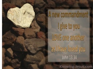 John 13:34 Love As I Have Loved You (brown)