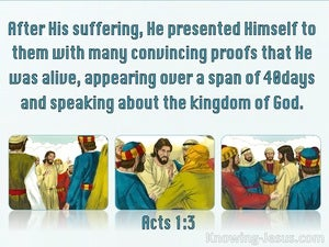 Acts 1:3 Jesus Presented Himself With Many Convincing Proofs aqua