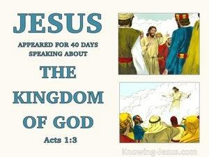 Acts 1:3 Jesus Presented Himself WIth Many Convincing Proofs beige