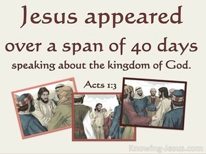 Acts 1:3 Jesus Presented Himself WIth Many Convincing Proofs red