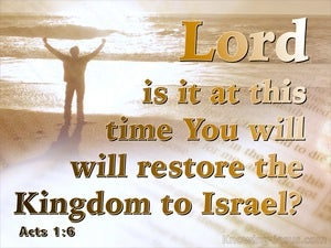 Acts 1:6 Is This The Time To Restore Israel's Kingdom brown