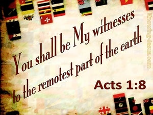 Acts 1:8 You Shall Be My Witnesses red