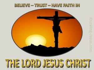 Acts 16:31 Believe on Christ orange