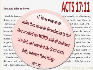 Acts 17:11 They Searched The Scriptures Daily (pink)
