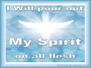 Acts 2:17 Pour Out God's Spirit On All Flesh blue