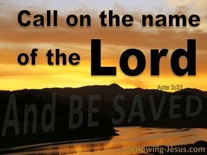 Acts 2:21 Whoever Calls On The Name Of The Lored Will Be Saved (black)