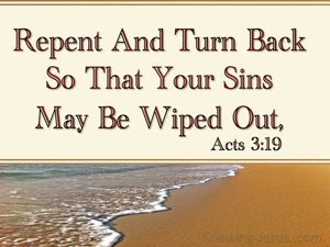 Acts 3:19 Repent So Your Sins Are Wiped Out beige