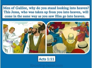 Acts 1:11 This Same Jesus will Return In The Same Way (blue)