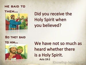 Acts 19:2 Did You Receive The Holy Spitiy When You Believed (beige)