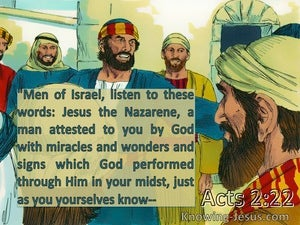 Acts 2:22 Jesus The Nazarene, A Man Attested To You By God (yellow)