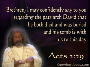 Acts 2:29 David's Tomb Is With Us To This Day (beige)
