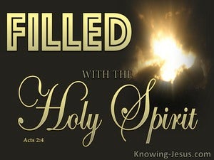 Acts 2:4 Filled With The Holy Spirit (gold)