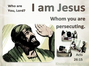 Acts 26:15 Who Are You. Jesus Whom You Are Persecuting (brown)