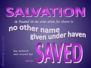 Acts 4:12 Salvation In No Other Name (purple)