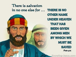 Acts 4:12 There Is Salvation  In No Other Name (aqua)