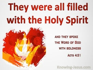 Acts 4:31 They Were All Filled With The Holy Spirit (red)