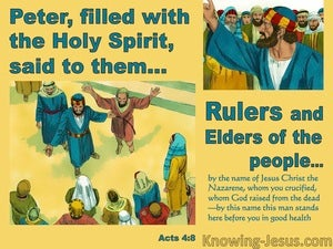 Acts 4:8 Peter Filled With The Holy Spirit (yellow)