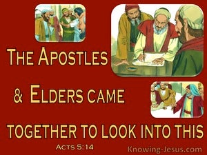 Acts 5:14 The Apostles And Elders Looked Into Circumcision (red)