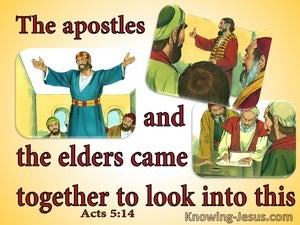 Acts 5:14 The Apostles And Elders Looked Into Circumcision (yellow)