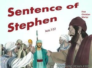Acts 7:57 Sentence of Stephen (aqua)