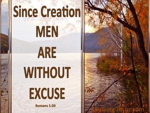 Romans 1:20 Men Are Without Excuse brown