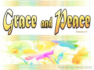 Romans 1:7 Grace and Peace (yellow)