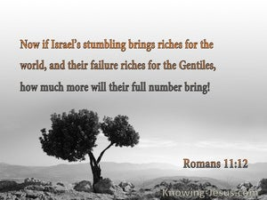 Romans 11:12 Israel's Stumpling Brings Riches For The World And The Gentiles (orange)