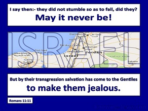 Romans 11:11 Israel Did Not Stumble So As To Fall blue