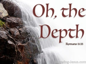 Romans 11:33 The Depth Of the Riches Of God (red)