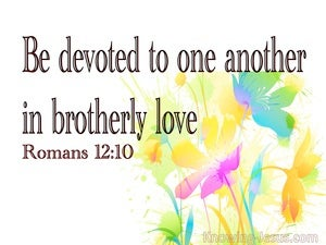 Romans 12:10 Be Kindly Affectioned  To One Another (white)