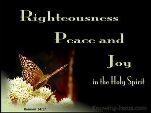 Romans 14:17 Rigteousness Peace And Joy (black)