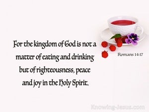 Romans 14:17 Rigteousness Peace And Joy (red)