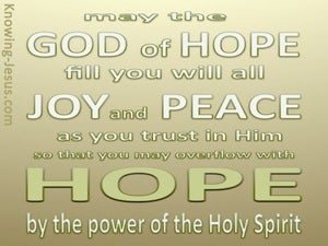 Romans 15:13 God Of Hope (green)