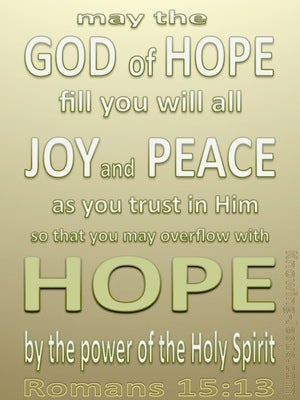 Romans 15:13 God Of Hope sage