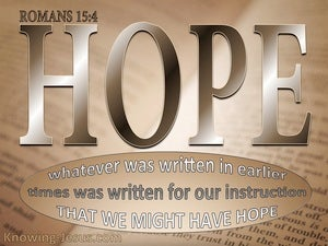 Romans 15:4 Scripure Was Written For Our Learning brown