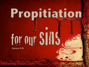 Romans 3:25a Propitiation For Our Sins red