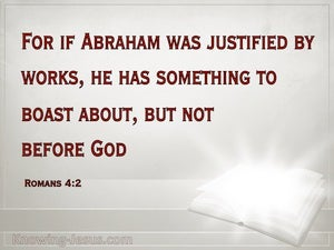 Romans 4:2 Something To Boast About But Not Before God (red)