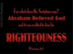 Romans 4:3 Abraham Believed God red