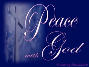 Romans 5:1 Peace With God blue