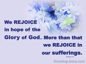 Romans 5:2 Rejocing in Hope (purple)