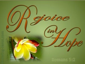 Romans 5:2 Rejoice In Hope green