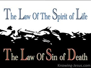 Romans 7:23 The Law of Sin blue