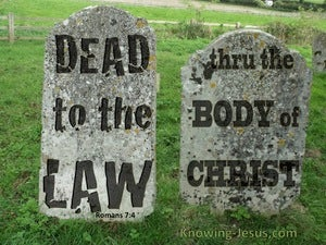 Romans 7:4 Dead To The Law green
